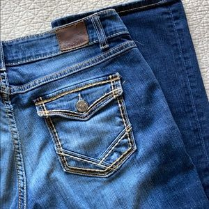 BKE Culture Button Flap Denim Jeans 34 Long